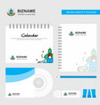 bells logo calendar template cd cover diary and vector image vector image