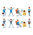 business performance businessman busy with work vector image vector image