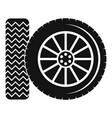 car tire icon simple style vector image vector image