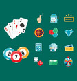 casino game poker gambler symbols blackjack cards vector image vector image