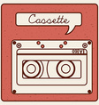 cassette icon vector image vector image