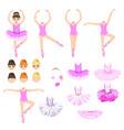 character ballerina vector image vector image