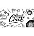 cheese poster or banner slices edam and vector image vector image