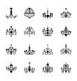classic chandelier filled icons vector image vector image