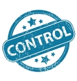 CONTROL round stamp vector image