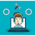 customer call center design vector image vector image