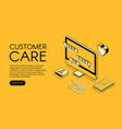 customer care service halftone vector image