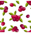 cute berry seamless pattern vector image vector image