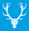 Deer antler icon white