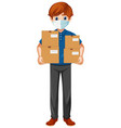 delivery man wearing uniform vector image
