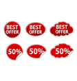 discount stickers set vector image vector image