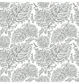Doodle ink seamless leaf pattern vector image vector image