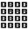 door icons set grunge vector image vector image