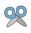 drawing blue scissors tool school work vector image