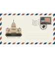 envelope with a postage stamp with Capitol vector image vector image