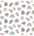 fashionable patches seamless pattern vector image vector image