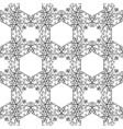 filigree black seamless pattern vector image vector image