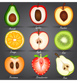 fruits set2 vector image vector image
