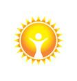 glorious wonder sun symbol design vector image