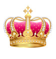 golden royal crown insulated on white background vector image