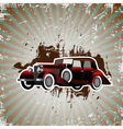 grunge background with retro car vector image