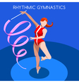 Gymnastics Ribbon 2016 Summer Games 3D vector image