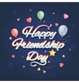 Happy friendship day vector image