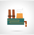 heavy industry plant flat color icon vector image vector image