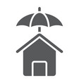 house protection glyph icon real estate and home vector image vector image