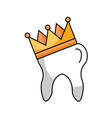 human tooth with crown vector image vector image