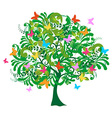 Isolated abstract spring time tree vector image vector image