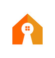 key hole home shape symbol design vector image