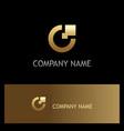 letter c digital technology gold logo vector image vector image