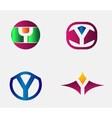 Letter Y Logo alphabet design element vector image vector image