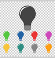 light lamp sign icon flat vector image