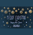merry christmas and happy new year 2020 lettering vector image vector image
