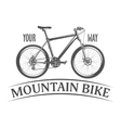 mountain bike isolated on white background vector image vector image