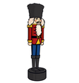 nutcracker christmas holiday cartoon vector image vector image