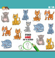 one a kind task for kids with cats vector image vector image