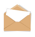 opened envelope isolated on a background flat vector image vector image