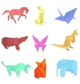 origami paper animals vector image vector image