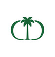 palm tree dd double d letter mark logo icon vector image