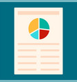 paper diagram icon flat style vector image