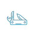 penknife linear icon concept penknife line vector image