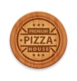 pizza restaurant label vector image vector image