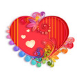 quilling paper heart happy valentine day vector image