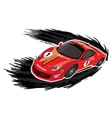 Racing car on a white background vector image vector image