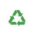 recycle symbol graphic design template vector image vector image