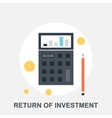 return investment vector image