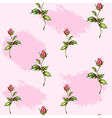 rose pattern on pink spots vector image vector image